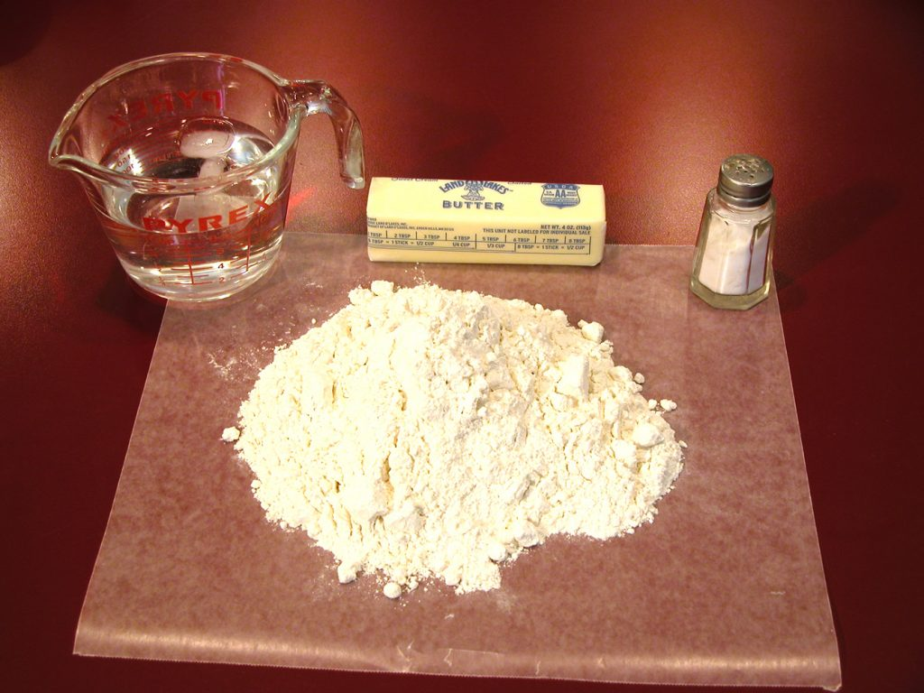 Pie crust: 4 ingredients
