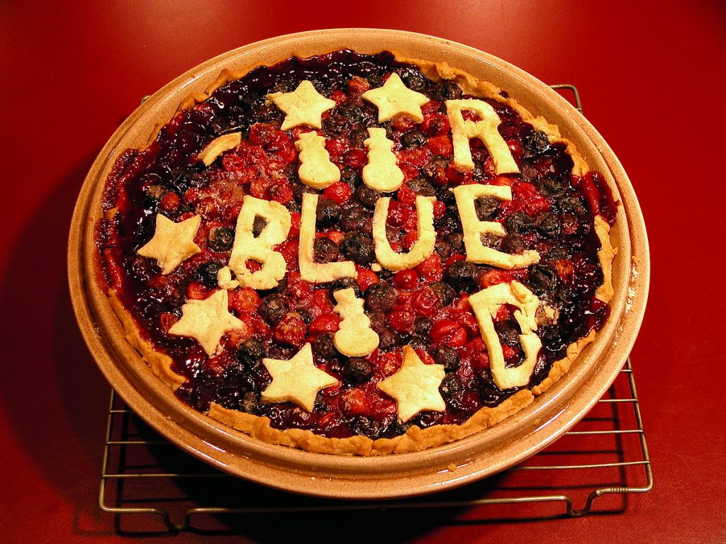 Blueberry Cranberry Red & Blue Pie