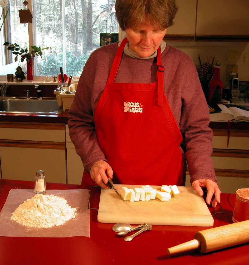 PieChef Jane Fisher with butter crust ingredients
