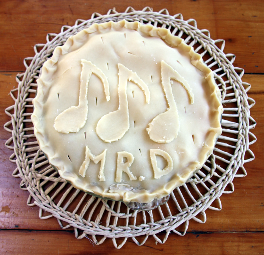 Pie for Mr D, unbaked