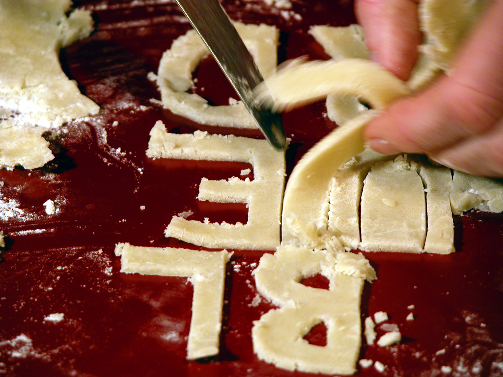 Red & Blue dough letters